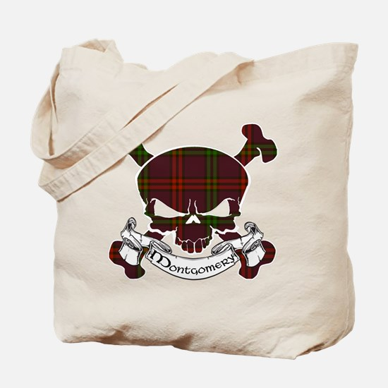 Montgomery Tartan Skull Tote Bag