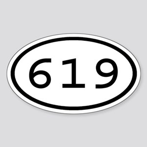 619 Oval Oval Sticker