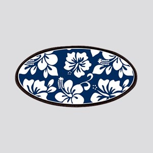 Navy Blue Hawaiian Hibiscus Patches