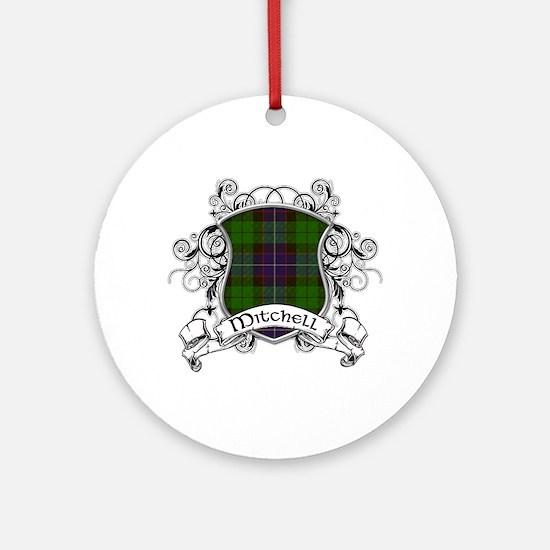 Mitchell Tartan Shield Ornament (Round)