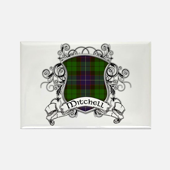 Mitchell Tartan Shield Rectangle Magnet