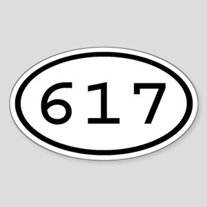 617 Oval Oval Sticker