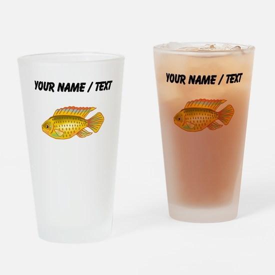 Custom Gold Cichlid Drinking Glass