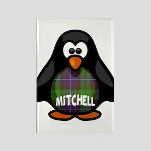 Mitchell Tartan Penguin Rectangle Magnet