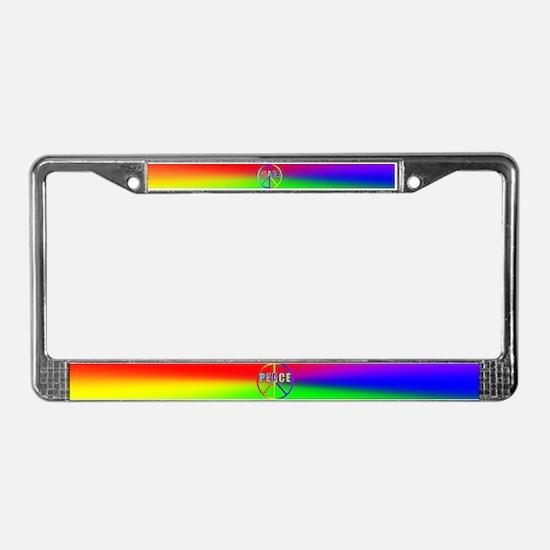 GLBT / LGBT Peace #1 License Plate Frame