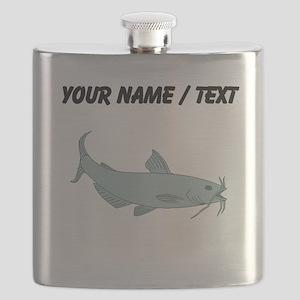 Custom Blue Catfish Flask