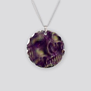 Ethereal Skull Necklace Circle Charm