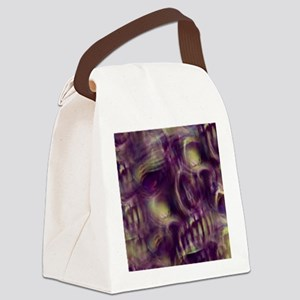 Ethereal Skull Canvas Lunch Bag