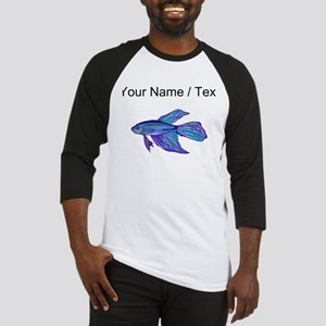 Custom Blue Betta Fish Baseball Jersey