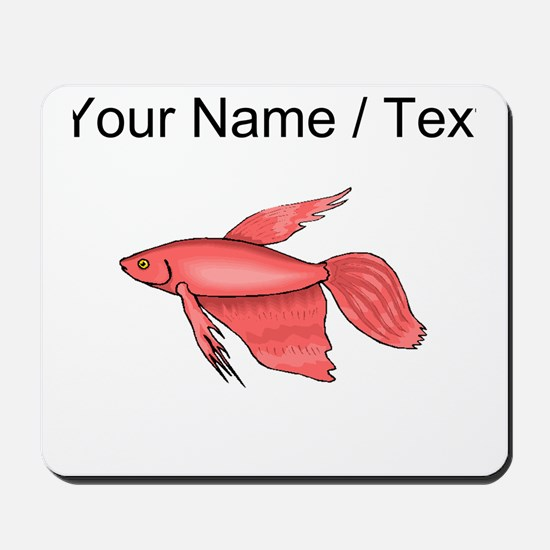 Custom Pink Betta Fish Mousepad