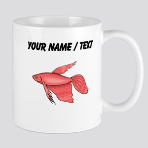 Custom Pink Betta Fish Mugs