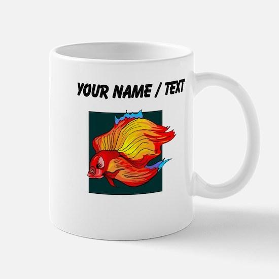 Custom Orange Betta Fish Mugs