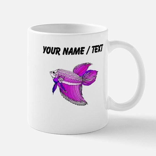 Custom Purple Betta Fish Mugs