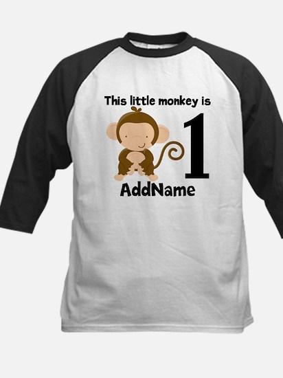 1st Birthday Monkey Personalized Baseball Jersey