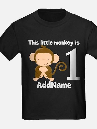 1st Birthday Monkey Personalized T-Shirt