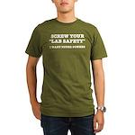 Lab Safety Super Powe Organic Men's T-Shirt (dark)