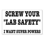 Lab Safety Super Powers Sticker (Rectangle)