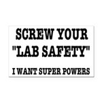 Lab Safety Super Powers Rectangle Car Magnet