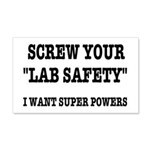 Lab Safety Super Powers 20x12 Wall Decal