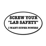 Lab Safety Super Powers 35x21 Oval Wall Decal