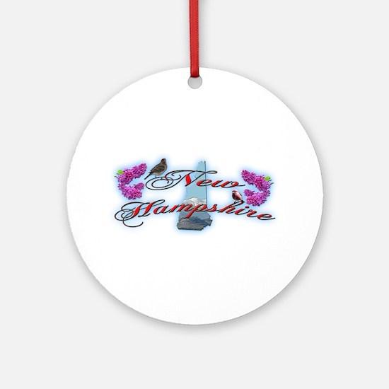 New Hampshire Ornament (Round)