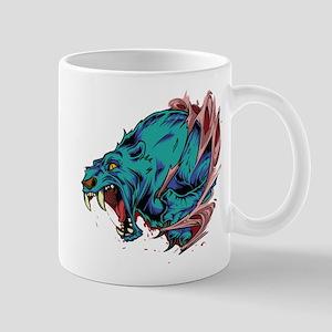 Saber Toothed Blue Cat Mugs