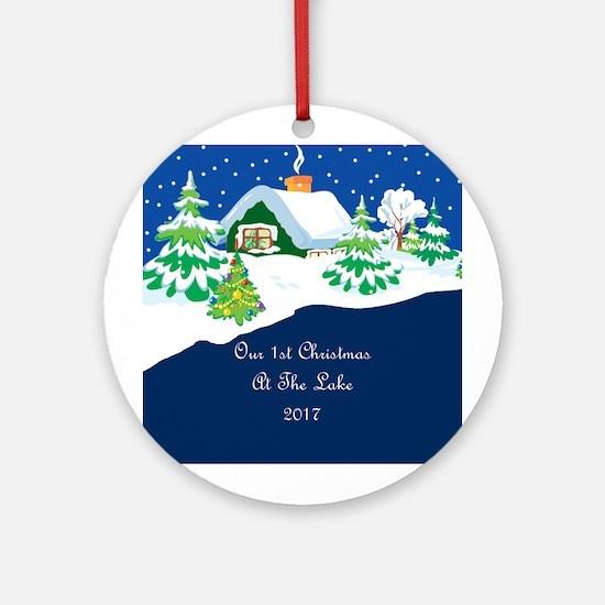 2017 1St Lake Christmas Ornament (Round)