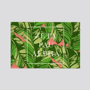 Zeta Tau Alpha Banana Leaves FB Rectangle Magnet