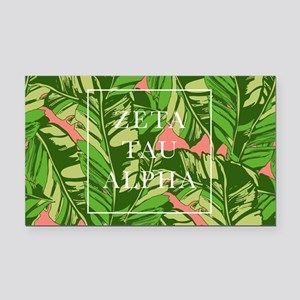 Zeta Tau Alpha Banana Leaves Rectangle Car Magnet