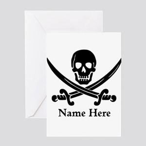 Custom Pirate Design Greeting Cards