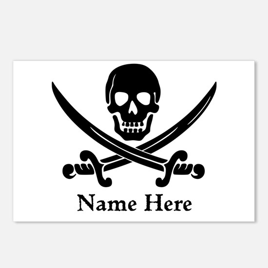 Custom Pirate Design Postcards (Package of 8)