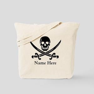 Custom Pirate Design Tote Bag