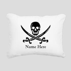 Custom Pirate Design Rectangular Canvas Pillow
