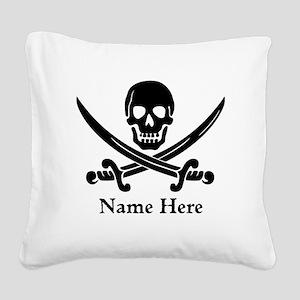 Custom Pirate Design Square Canvas Pillow