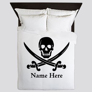 Custom Pirate Design Queen Duvet