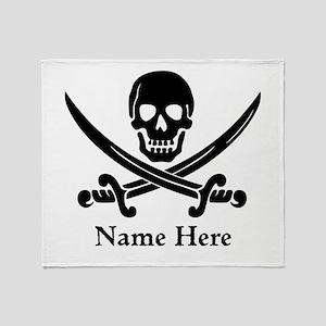 Custom Pirate Design Throw Blanket
