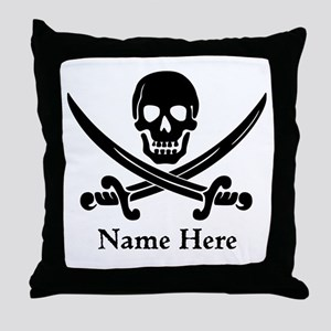 Custom Pirate Design Throw Pillow
