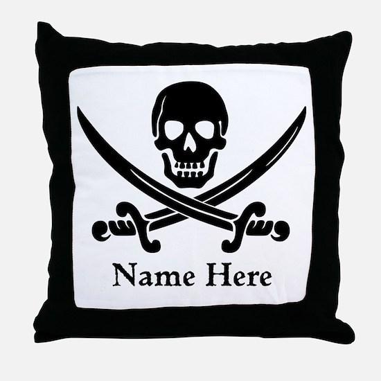 Custom Pirate Design Throw Pillow