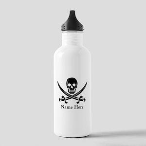Custom Pirate Design Water Bottle