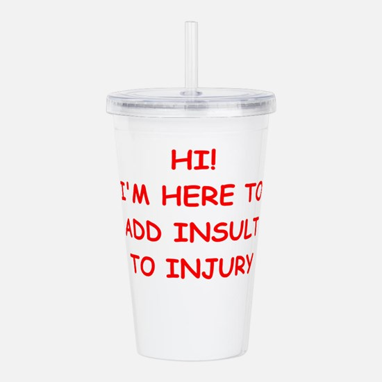 INSULT.png Acrylic Double-wall Tumbler