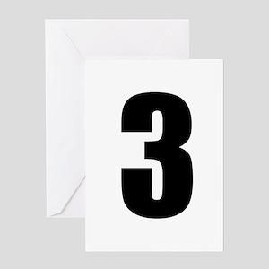 Number Three - No. 3 Greeting Card