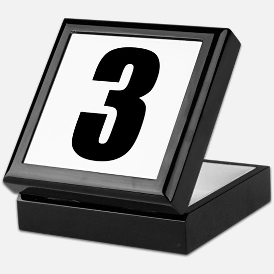 Number Three - No. 3 Keepsake Box