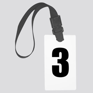 Number Three - No. 3 Large Luggage Tag