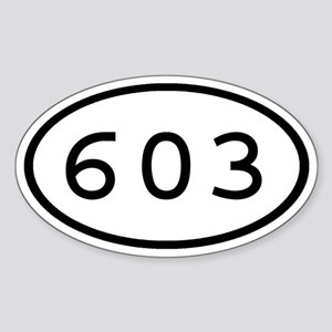 603 Oval Oval Sticker