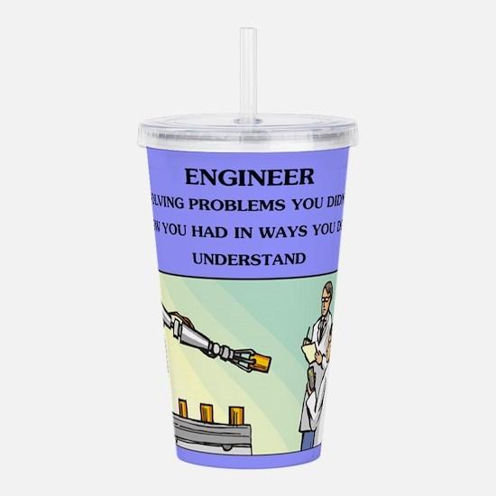 engineering Acrylic Double-wall Tumbler