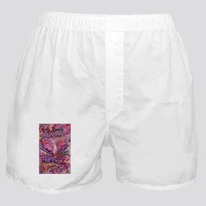 Pink Cancer Angel Boxer Shorts