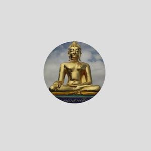 Golden Triangle Buddha Mini Button