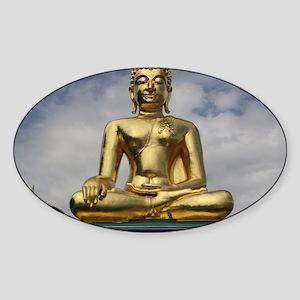 Golden Triangle Buddha Sticker (Oval)