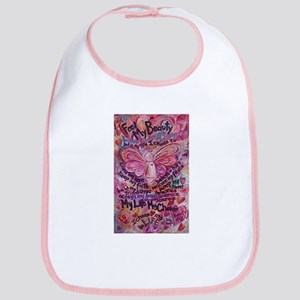 Pink Cancer Angel Bib