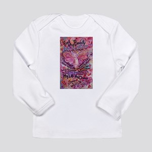 Pink Cancer Angel Long Sleeve Infant T-Shirt